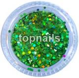 MINIHOLOGRAMY LIGHT GREEN opalescent