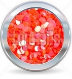 hologramy 2mm  NEON redorange
