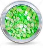 hologramy 2mm  NEON green