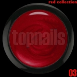 topnails - barevný UV gel RED collection 03