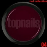 topnails - barevný UV gel RED collection 04