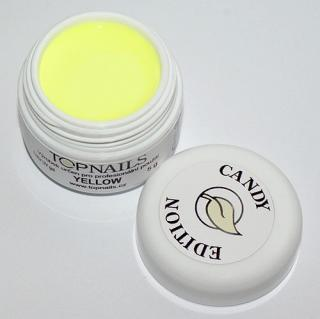 topnails - barevný UV gel CANDY YELLOW 5g