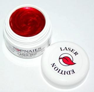topnails - barevný UV gel LASER RED 5g