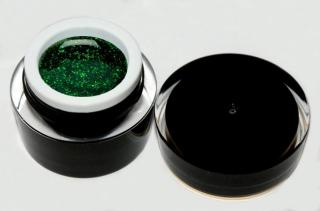 topnails - BLACK LINE - UV gel GLITTER GREEN 5g