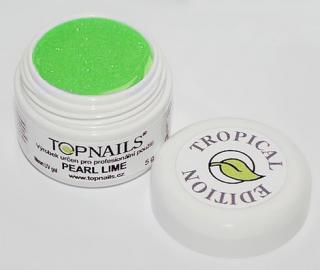 topnails - barevný UV gel TROPICAL pearl LIME 5g
