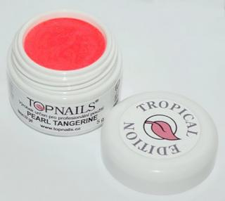 topnails - barevný UV gel TROPICAL pearl TANGERINE 5g