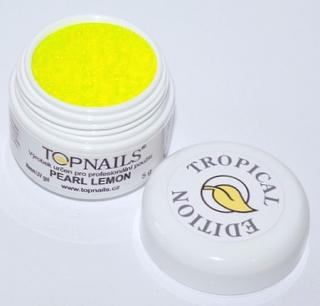 topnails - barevný UV gel TROPICAL pearl LEMON 5g