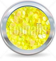 hologramy 2mm  NEON yellow