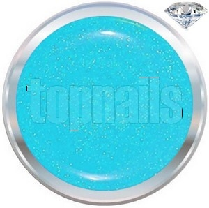 topnails - barevný UV gel DIAMOND CYAN 5g