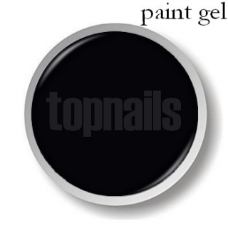 topnails -  UV gel PAINT BLACK 5g