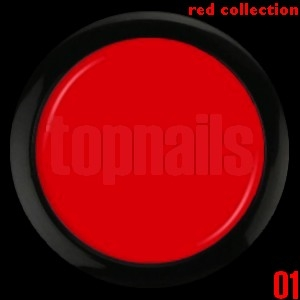 topnails - barevný UV gel RED collection 01