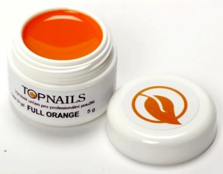 topnails - barevný UV gel FULL ORANGE 5g