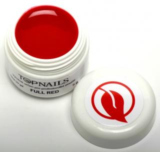 topnails - barevný UV gel FULL RED 5g